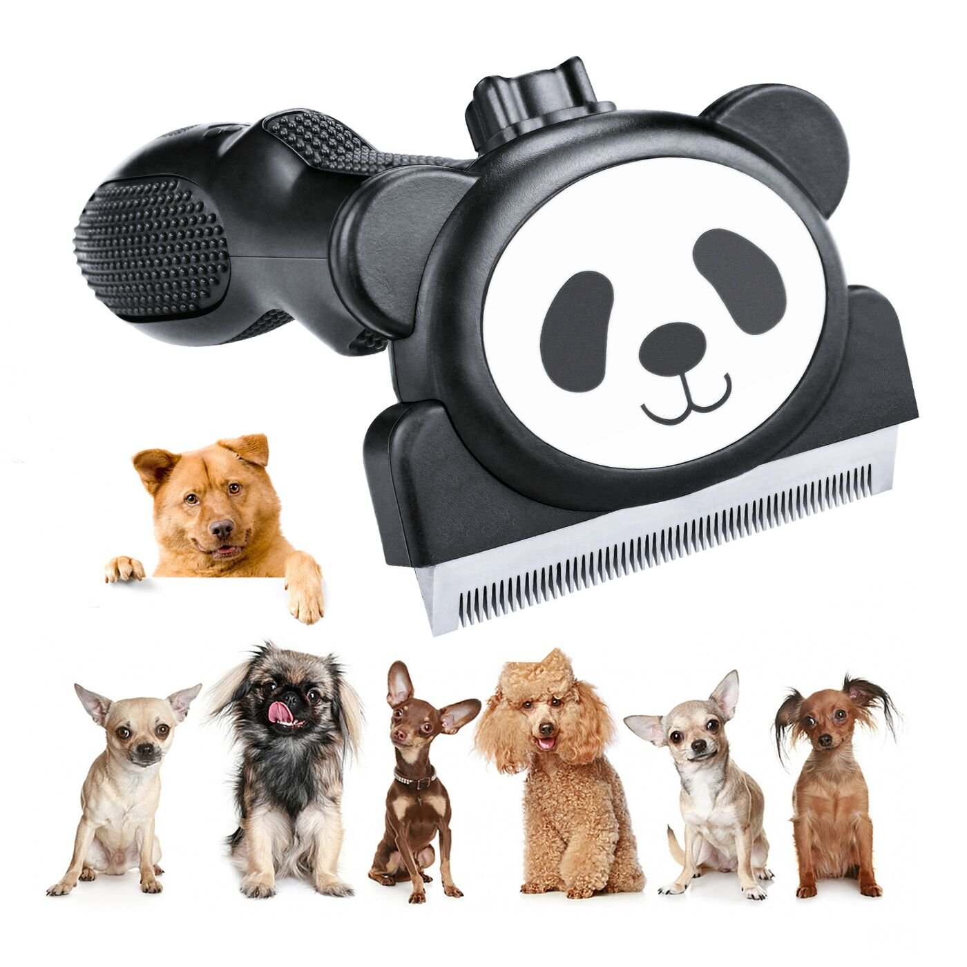Cubbe Pet Brush Deshedding Tool, 2018 NEW Professional Pet Cat Dog Grooming Brush, Slicker Brush, Pet Hair Fur Removal for Dogs and Cats with Stainless Steel, Shedding Up to 95% Long Short Hair