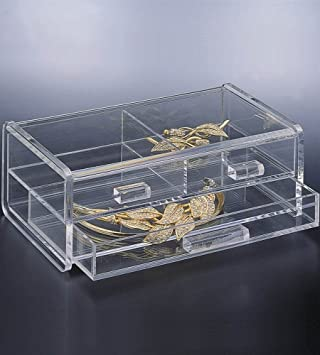 Amazoncom Jewelry Box Clear 8W x 5D x 3H Home Kitchen