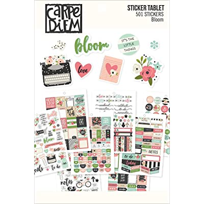 Carpe Diem by Simple Stories A5 Sticker Tablet - Bloom: Arts, Crafts & Sewing