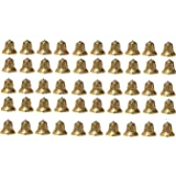 SPHINX® Golden Colored Plastic Bells for Crafts/Decoration/Festive Decor (Check Sizes Carefully) - (A4R) - Pack of 50