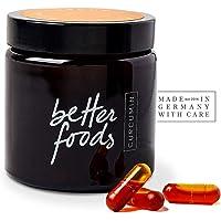 Better Foods Capsules de Curcumine | Supplément Antioxydant Naturel au Curcuma et Vitamine D | Soulage la Douleur et des Articulations | Booster Immunitaire, Detox et Perte de Poids