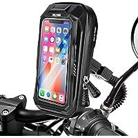 BTNEEU Soporte Móvil Moto Impermeable Soporte Telefono Motocicleta Retrovisor Universal, 360 Rotación Soporte Movil…