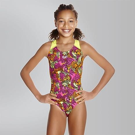Bambina Speedo Costume da Bagno 1/Pezzo Fusion Fun Allover Splashback