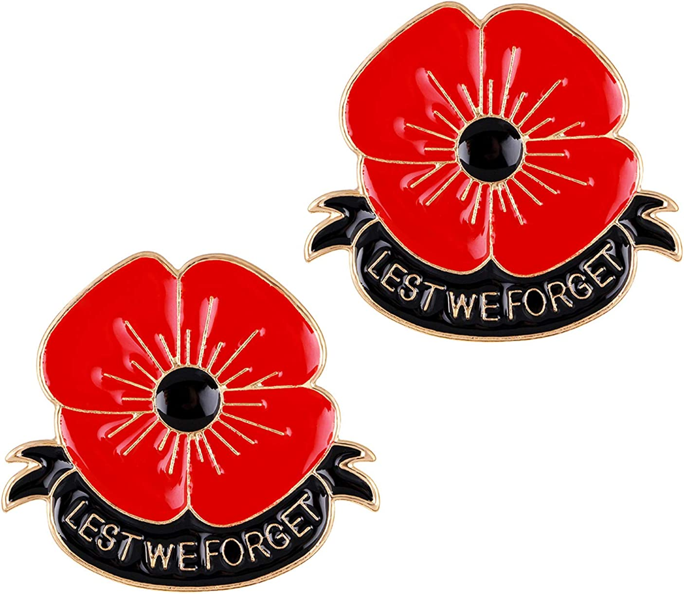 Hand Poppies Broached Or Hair Clips