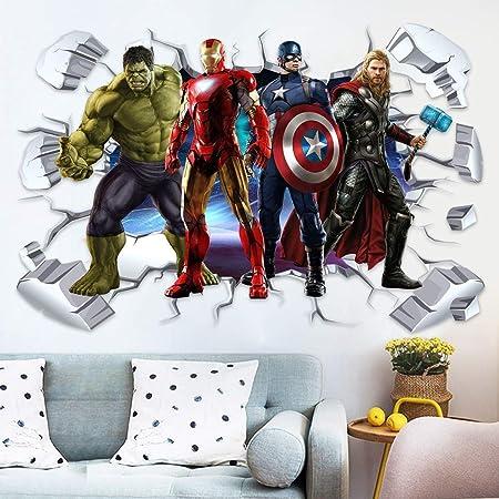 Pegatinas de pared Modelos pared 3D Etiqueta murales Iron Man ...
