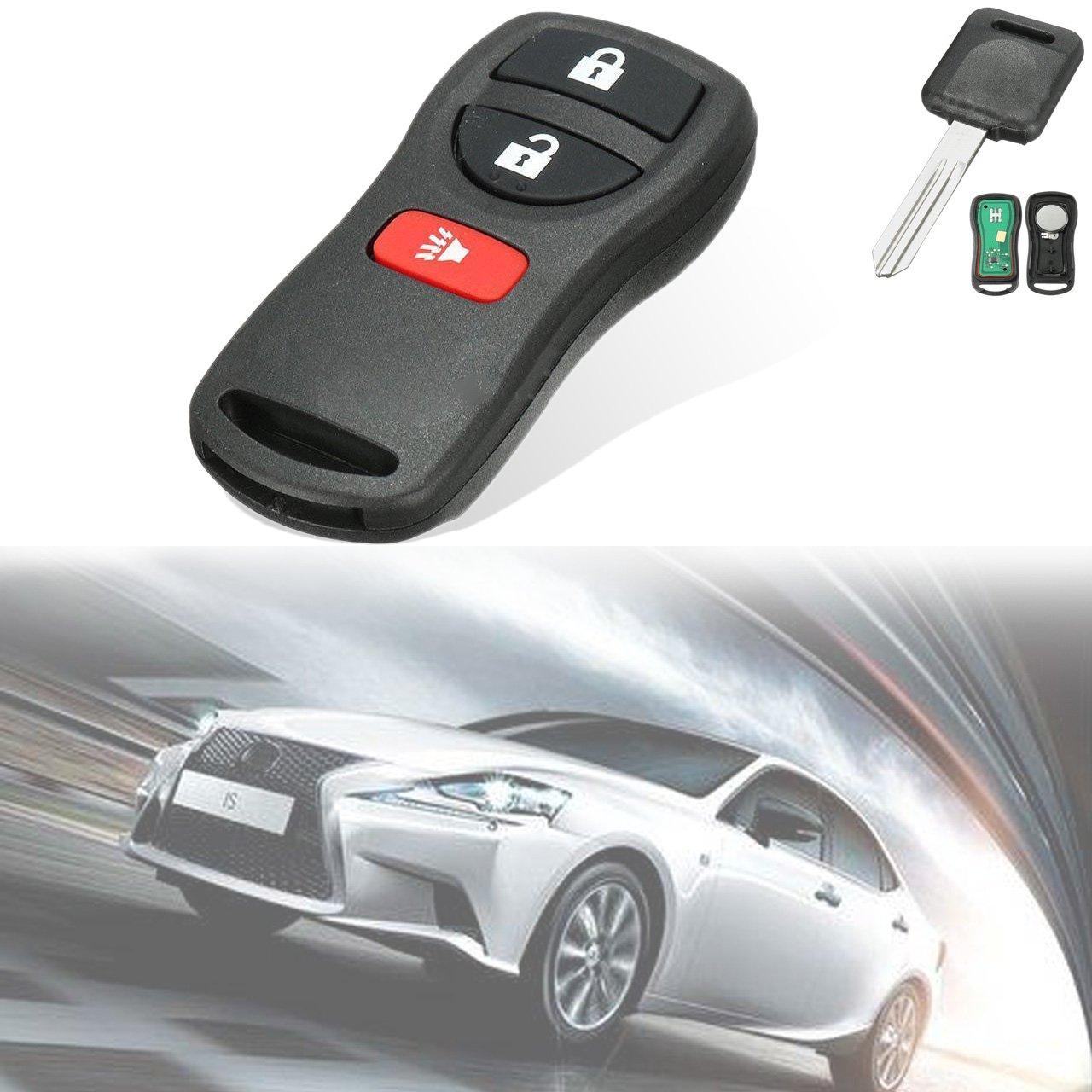 KaTur 3 Button Key Fob Keyless Entry Remote Fits Nissan Frontier Armada Murano Pathfinder Quest Sentra Titan Versa Xterra/Infiniti QX4 FX35 FX45 (BRASTU15, CWTWB1U415, CWTWB1U733, CWTWB1U821)