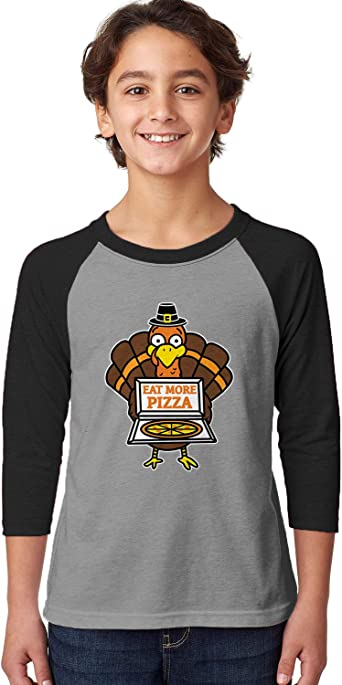 SpiritForged Apparel Eat More Pizza Turkey Infant T-Shirt