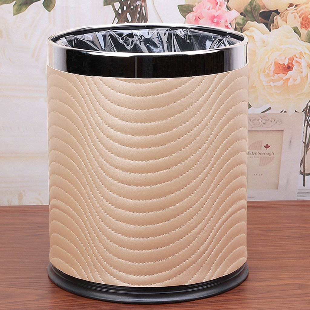 Kitchen Trash Household Living Room Bedroom Double Lap Hotel Bathroom Without Cover 10L ( Color : D )
