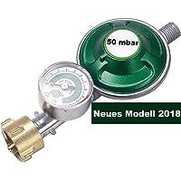 IGT Gasregler mit Manometer F/üllstandsanzeige Schlauchbruchsicherung Propangas Druckminderer Druckregler