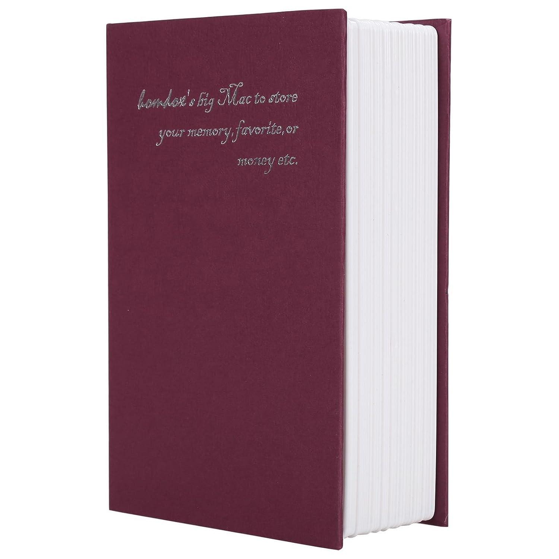 Fashineホーム辞書Diversionメタル安全ロックボックス辞書Hollow Book Safeお金ボックスジュエリーセキュリティロックSecret Bookセーフロック(米国Stock ) レッド B07BKXGHTD  レッド