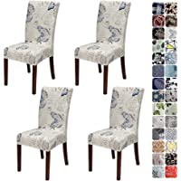 JOTOM Dining Chair Covers Seat Protector Stretch Removable Soft Spandex Decoration Seat Slipcovers for Home Dining Room…