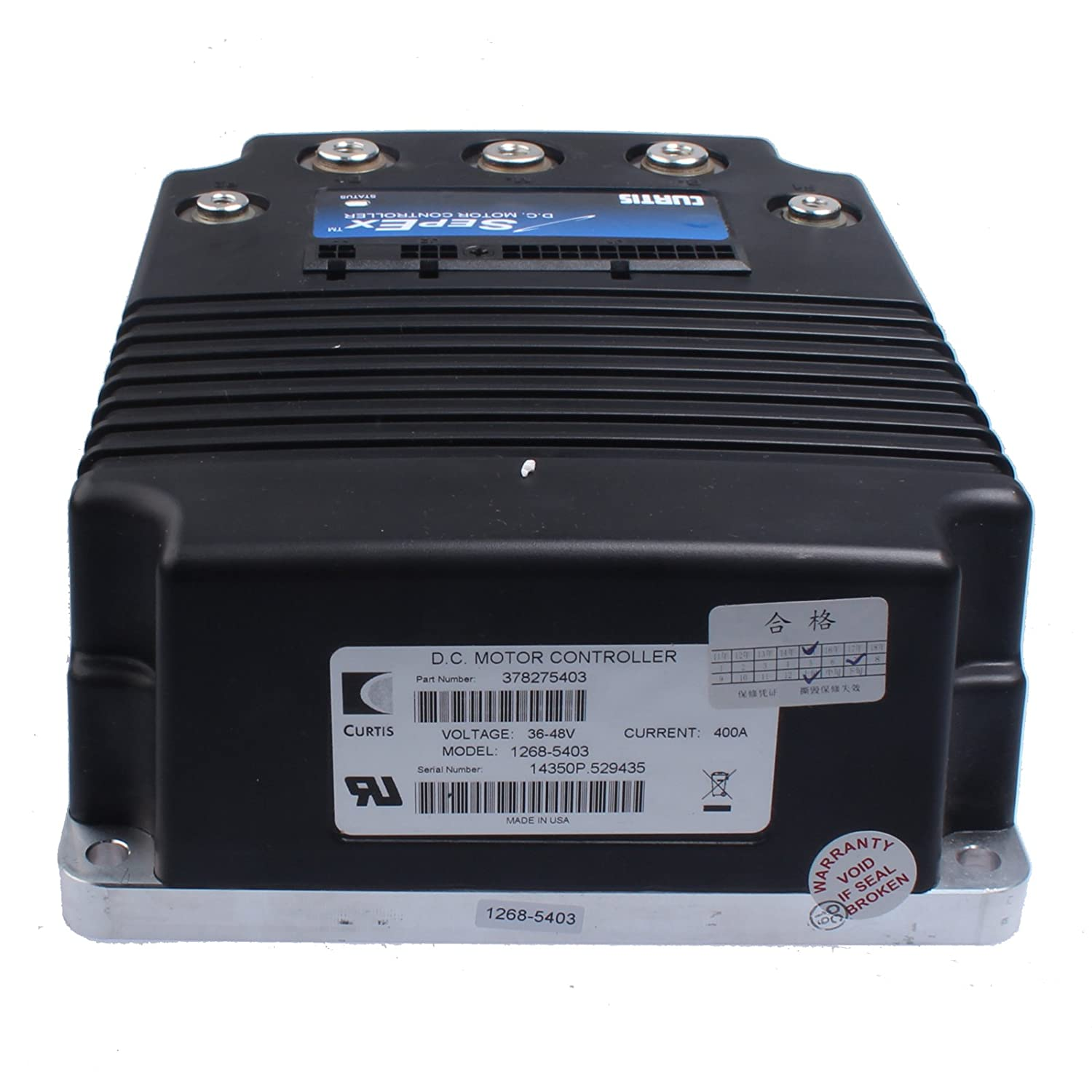 Amazon.com: Holdwell 1268-5403 SepEx DC Motor Controller 48V 400A 0–5kΩ for  Curtis Electric forklift: Automotive