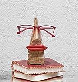 """Quirky Fait main """"Nez Forme"""" en bois de rose Lunettes Lunettes de soleil Support pour decor de la maison et du bureau (nez forme marron1)"""