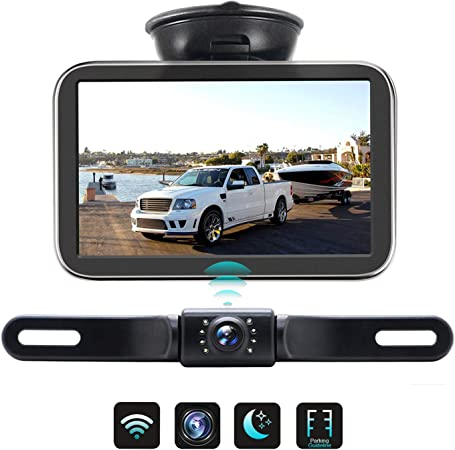 Wireless Backup Camera with Monitor Back Up Car Camera Rear View Camera for Sedans, Pickup Truck, Minivans Strong Signal and Clear Image ERT03