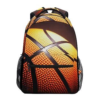 Mochila Escolar de Baloncesto Negro Mochila Impermeable para el ...