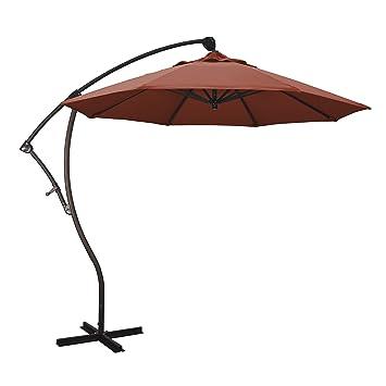 California paraguas 9-Feet Cantilever aluminio inclinación paraguas