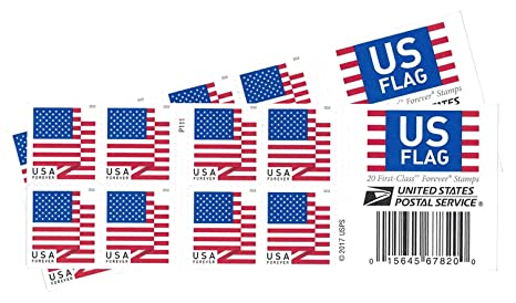 722ce5243a3e Image Unavailable. Image not available for. Color  USPS US Flag 2018 Forever  Stamps ...