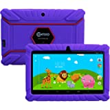 "Contixo Kids Safe 7"" Quad-Core Tablet 8GB, Bluetooth, Wi-Fi, Cameras, 20+ Free Games, HD Edition w/ Kids-Place Parental Control, Kid-Proof Case (Purple) - Best Gift"