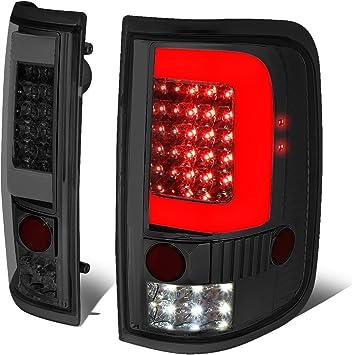 Pair of Chrome Smoke Lens 3D LED Stripe Bar Tail Lights Brake/Reverse Lamps Replacement for Ford F150 Lobo 04-08