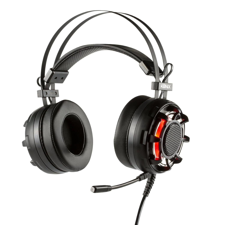 Konix Ragnarok - Auriculares con micrófono para Juegos, Color Negro