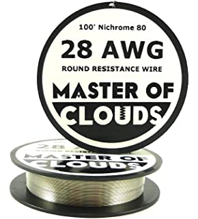 Amazon 100ft nichrome 80 wire 28 gauge electrical resistance nichrome 80 100 ft 28 gauge awg resistance wire 032mm 28g 100 greentooth Choice Image
