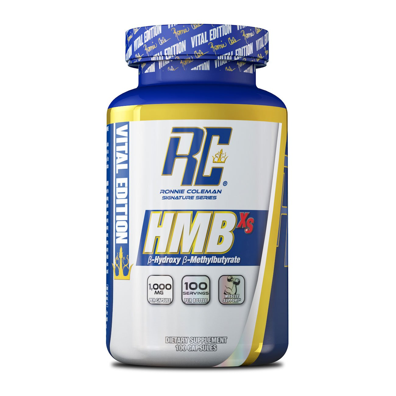 Ronnie Coleman Signature Series Hmb 1000 Beta-Hydroxy Beta-Methyl Butyrate Workout Recovery Supplement, 100 Count