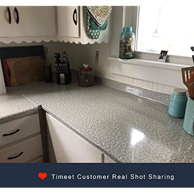 Buy Timeet 17 7x78 7 Granite Contact Paper For Countertops Waterproof Self Adhesive Film For Kitchen Counters Bathroom Counters Removable Gray Brown Granite Peel And Stick Decorative Vinyl Online In Germany B07ppcly1x