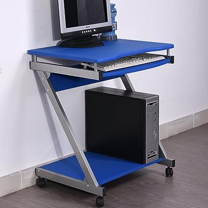 Mesa de ordenador con teclado acceso, pequeño tamaño para ordenador, Study escritorio