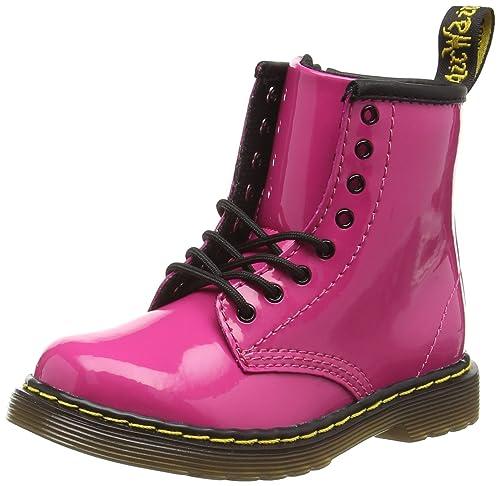 Dr. Martens Brooklee, Botas Para Niñas, Rosa (Hot Pink), 23