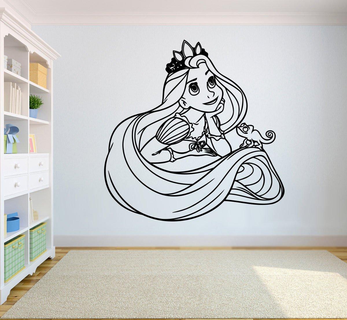 Amazon.com: Princess Rapunzel – Adhesivo de Pared Dibujos ...