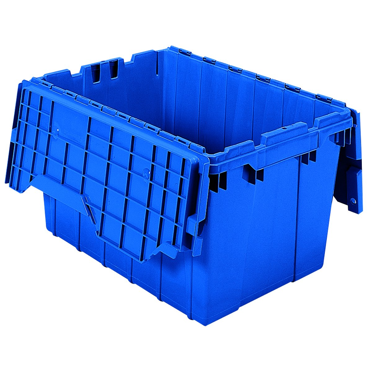 Attached Lid Container, 1.62 Cu Ft, Blue by Akro-Mils