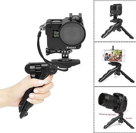 autofoto 2018 Mini tr/ípode y m/ás Solo Negro //HD //Hero 6//Hero 5 con Estuche D/&F Kit de Accesorios Estuche Protector para GoPro Hero 7 Black