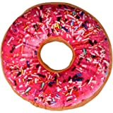 Kolylong New style Doughnut Pillow Shaped Ring Plush Soft Novelty Style Cushion Pillow (A)