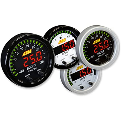 Amazon.com: AEM 30-0306 X-SERIES TURBO BOOST PRESSURE DISPLAY GAUGE 35PSI + WHITE FACE KIT: Automotive