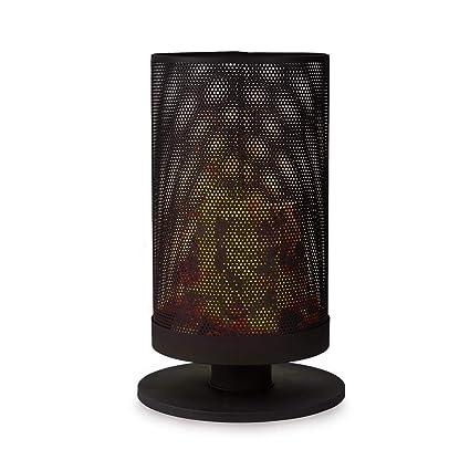 Blumfeldt Ithaka Brasero • Brasero Vertical de Acero • Hoguera para Exteriores Hacer una antorcha Sueca • 37, 5 cm de diámetro • Incluye una peana y un ...