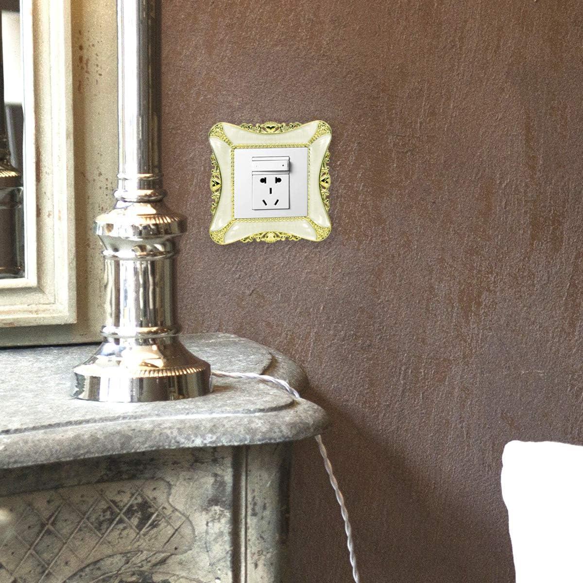 Pegatinas de Interruptor de luz Cuadrado de pl/ástico Cubierta decoraci/ón del hogar Etiqueta LACKINGONE Oro