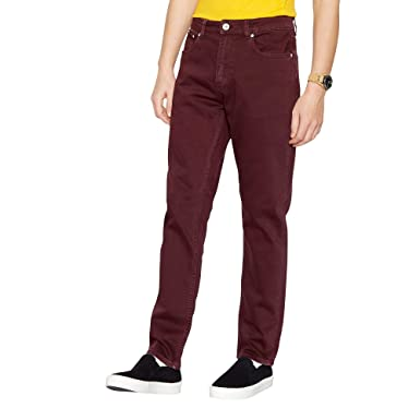 a4199ef5 Red Herring Men Dark Red Slim Fit Jeans: Red Herring: Amazon.co.uk ...