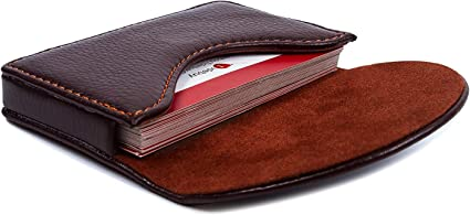 PU LEATHER CREDIT CARD HOLDER ID Business Cards Pocket Wallet Purse Box New UK
