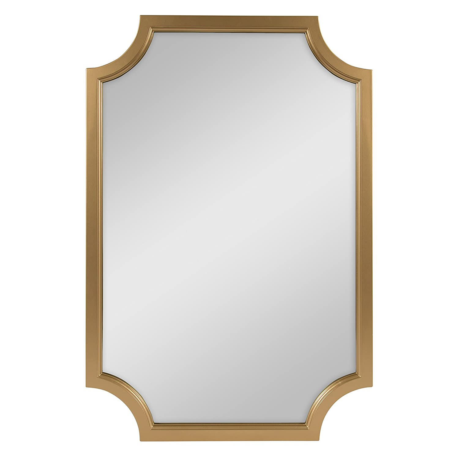 692369c081cd Amazon.com  Kate and Laurel Hogan Scallop Corners Wood Framed Mirror ...