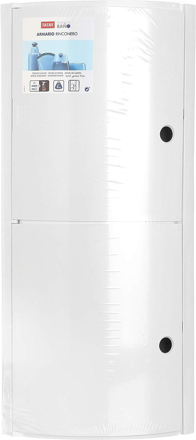 Tatay 4480101 Armario de Baño Rinconero, Plástico y Polipropileno, Glacé, 20x20x62.5 cm: Amazon.es: Hogar