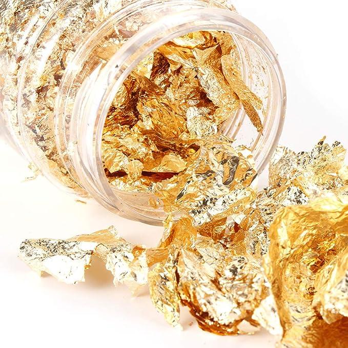 Painting Supplies DIY Craft Supplies Resin Art Art Supplies Epoxy Resin Filler 50g Gold Leaf Flakes Gold Leaf Embellishments UV Resin