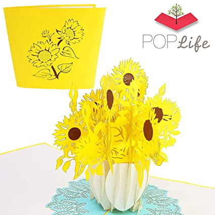 PopLife Cards Tarjeta emergente de girasol para todas las ...