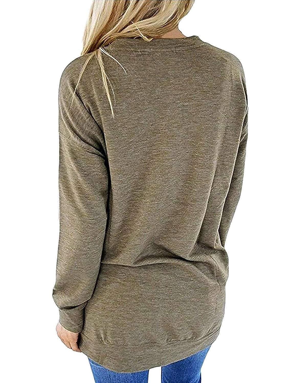 Top Take Women Mama Bear Shirt Batwing Long Sleeve Sweatshirt Loose Fit Casual Tops T Shirts with Pockets