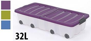Boite Plastique De Rangement Sous Lit A Roulettes Amazon Fr