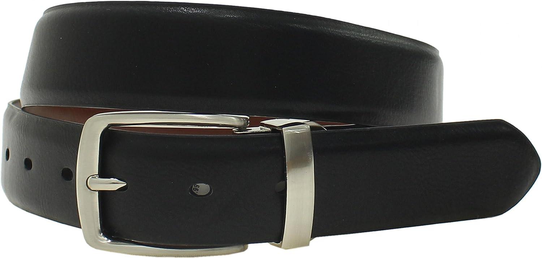 ZUZIFY Mens Reversible Bonded Leather Dress Belt CD1273