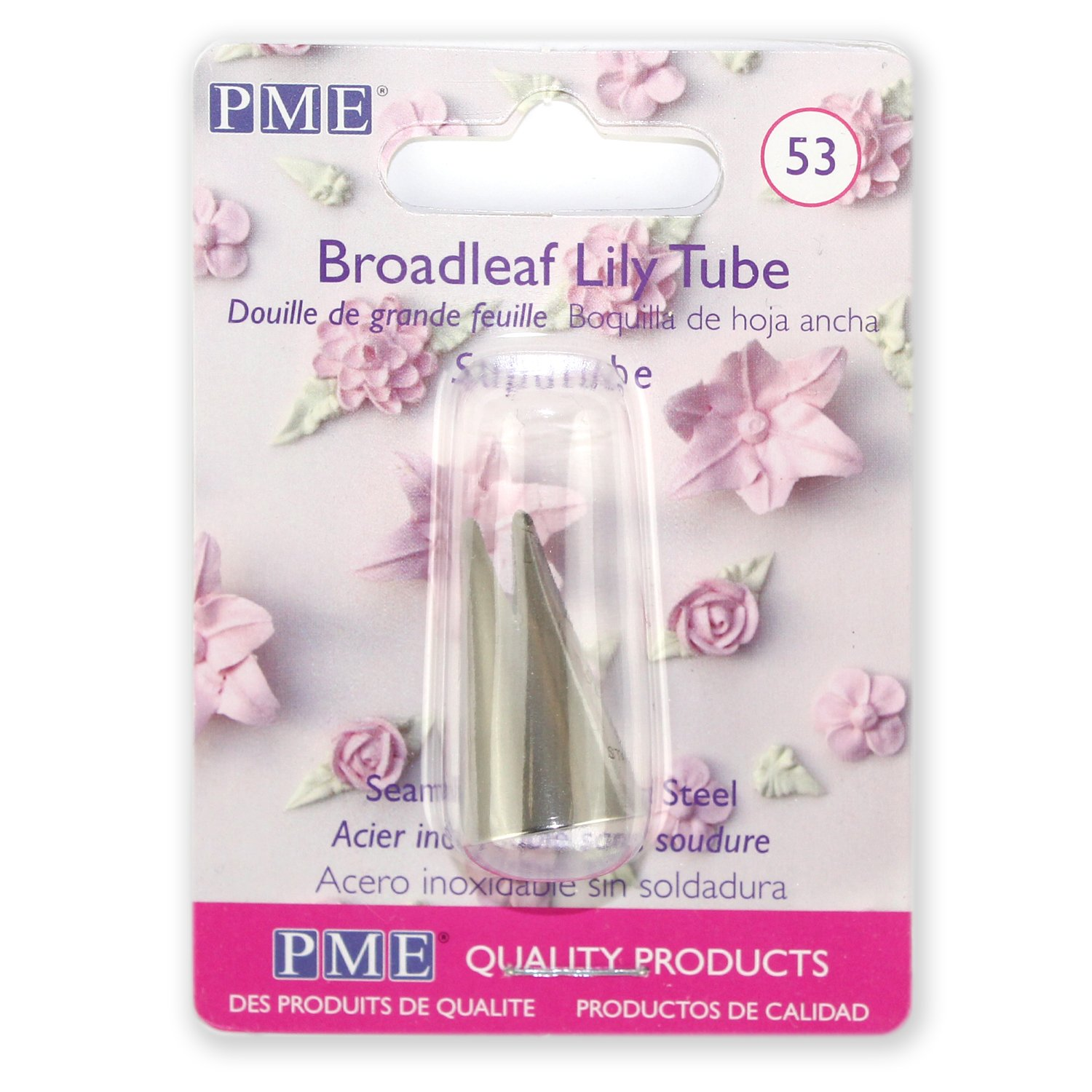 Amazon.com: PME ST53 Supatube Decorating Tip Broadleaf Lily #53, Standard Silver: Icing Tips: Kitchen & Dining