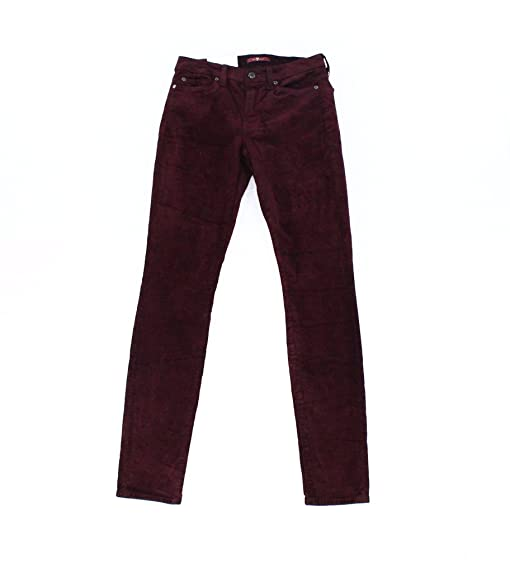 7 For All Mankind Woman Coated Mid-rise Skinny Jeans Merlot Size 30 7 For All Mankind if5Yi9