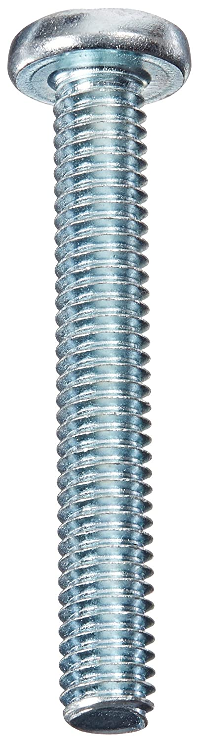 5//16-18 Thread Size 2-1//4 Length Small Parts 587767 Imported 5//16-18 Thread Size Meets ASME B18.6.3 #4 Phillips Drive Steel Pan Head Machine Screw 2-1//4 Length Pack of 10 Fully Threaded Zinc Plated