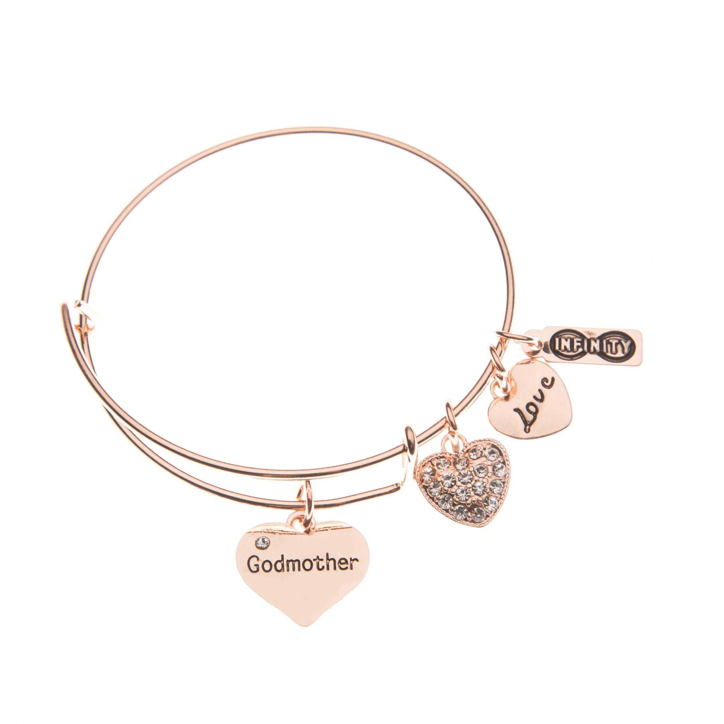 Infinity Collection Godmother Bangle Bracelet- Godmother Gift- Rose Gold Godmother Jewelry from Godchild