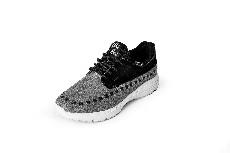 WAU - WS96058 - APACHE - Deportivo casual mujer - Talla: 39 - Color: Gris / Negro / Blanco: Amazon.es: Zapatos y complementos